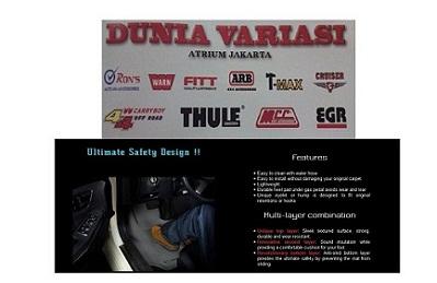 KARPET BAWAH SUZUKI GRAND VITARA KARPET 3D, KARPET DASAR 3D, KARPET MAXPIDER MAT DUNIAVARIASI.COM