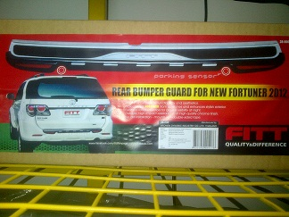 REAR BEMPER FORTUNER  SILPLATE BELAKANG FORTUNER